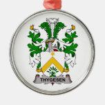 Escudo de la familia de Thygesen Ornamentos Para Reyes Magos