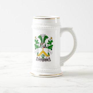 Escudo de la familia de Thygesen Jarra De Cerveza