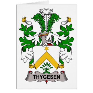 Escudo de la familia de Thygesen Tarjeta De Felicitación