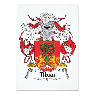 """Escudo de la familia de Tibau Invitación 5"""" X 7"""""""