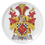 Escudo de la familia de Tibell Platos Para Fiestas