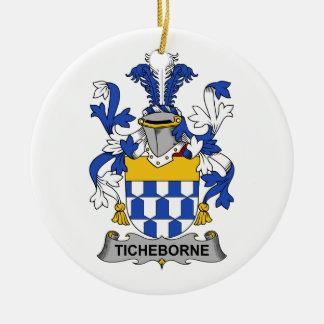 Escudo de la familia de Ticheborne Ornamentos De Navidad