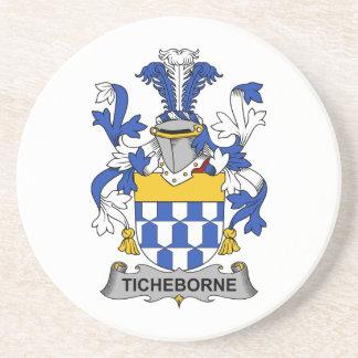 Escudo de la familia de Ticheborne Posavasos Personalizados