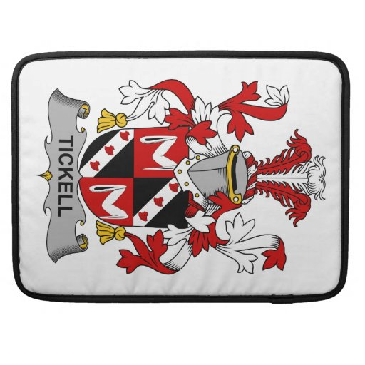 Escudo de la familia de Tickell Funda Para Macbooks