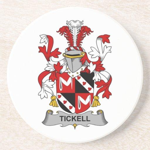 Escudo de la familia de Tickell Posavasos Para Bebidas