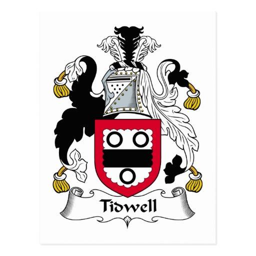 Escudo de la familia de Tidwell Postales