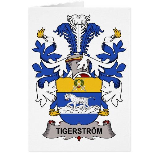 Escudo de la familia de Tigerstrom Tarjeta De Felicitación