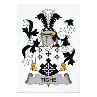 """Escudo de la familia de Tighe Invitación 5"""" X 7"""""""