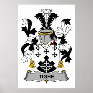 Escudo de la familia de Tighe Póster