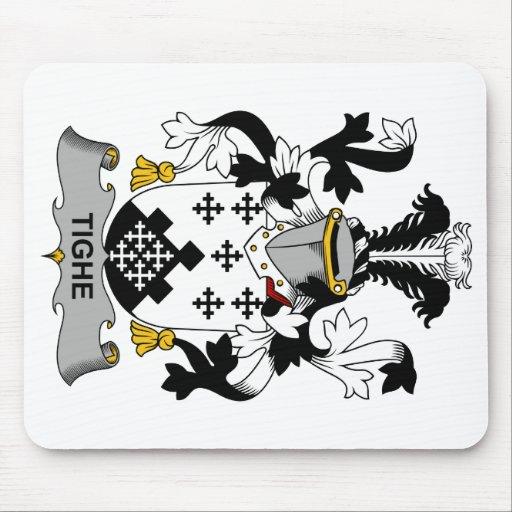 Escudo de la familia de Tighe Alfombrillas De Ratones
