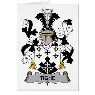Escudo de la familia de Tighe Tarjeta De Felicitación