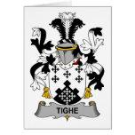 Escudo de la familia de Tighe Tarjeton