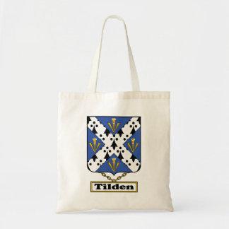 Escudo de la familia de Tilden Bolsa Tela Barata