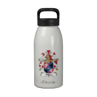 Escudo de la familia de Tillen Botellas De Agua Reutilizables