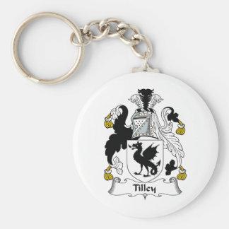 Escudo de la familia de Tilley Llaveros