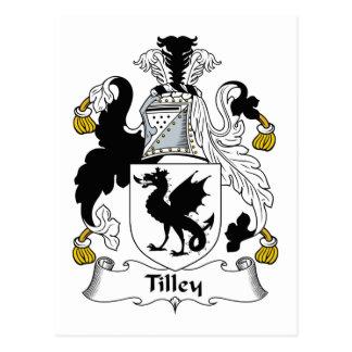Escudo de la familia de Tilley Postales