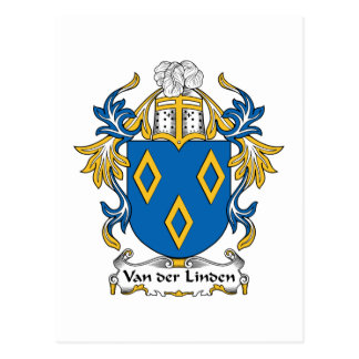 Escudo de la familia de tilo del der de Van Tarjetas Postales