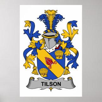 Escudo de la familia de Tilson Póster