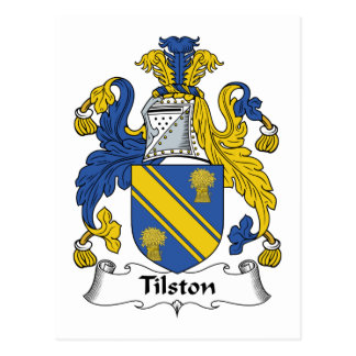 Escudo de la familia de Tilston Postal