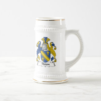 Escudo de la familia de Tilston Tazas De Café