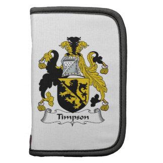 Escudo de la familia de Timpson Organizador
