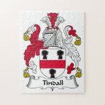 Escudo de la familia de Tindall Rompecabeza Con Fotos