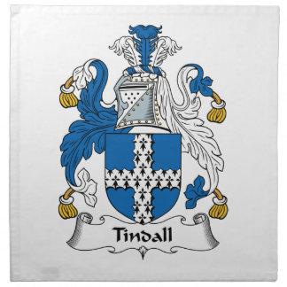 Escudo de la familia de Tindall Servilleta De Papel
