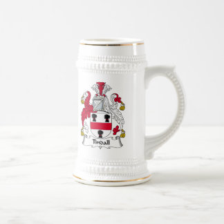Escudo de la familia de Tindall Tazas De Café