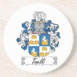 Escudo de la familia de Tinelli Posavasos Diseño