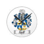 Escudo de la familia de Tinelli Reloj De Pared