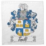 Escudo de la familia de Tinelli Servilleta De Papel