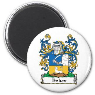 Escudo de la familia de Tinkov Imán Redondo 5 Cm