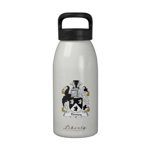 Escudo de la familia de Tinney Botella De Agua