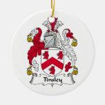 Escudo de la familia de Tinsley Ornamento Para Arbol De Navidad