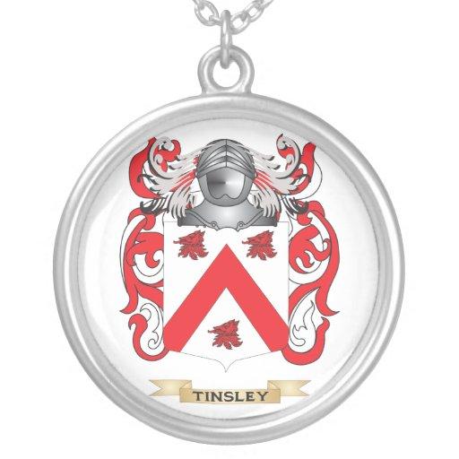 Escudo de la familia de Tinsley (escudo de armas) Pendiente Personalizado