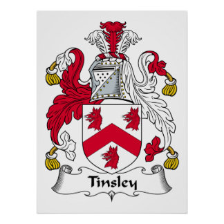 Escudo de la familia de Tinsley Póster
