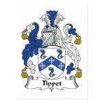 Escudo de la familia de Tippet Postal