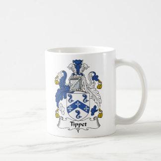 Escudo de la familia de Tippet Tazas De Café