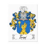 Escudo de la familia de Tironi Impresión En Lona
