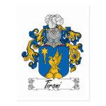 Escudo de la familia de Tironi Postal