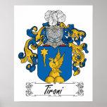 Escudo de la familia de Tironi Poster