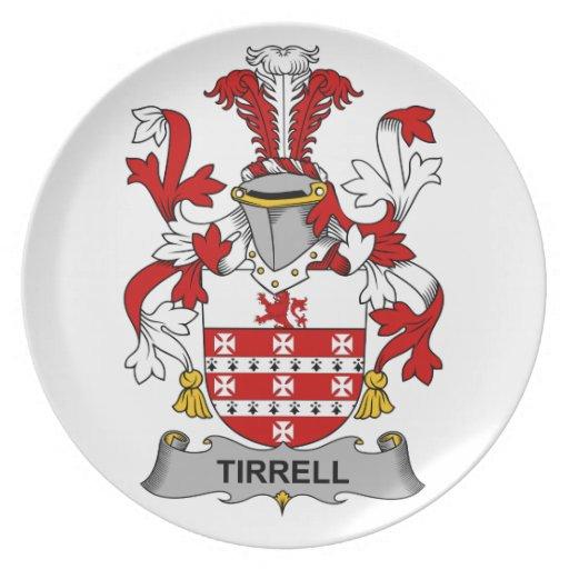 Escudo de la familia de Tirrell Plato