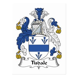 Escudo de la familia de Tisdale Postal