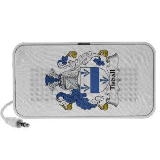 Escudo de la familia de Tisdall Notebook Altavoces