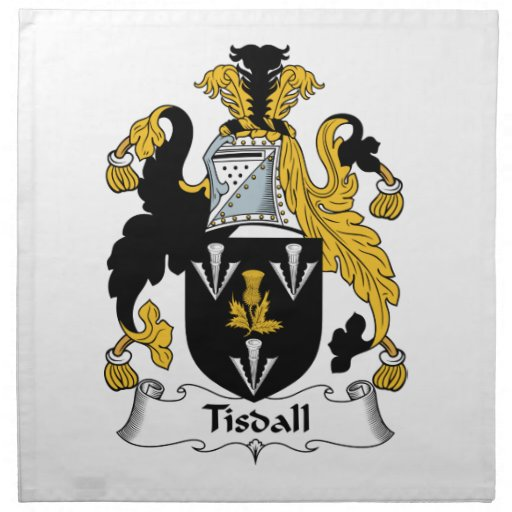 Escudo de la familia de Tisdall Servilletas De Papel