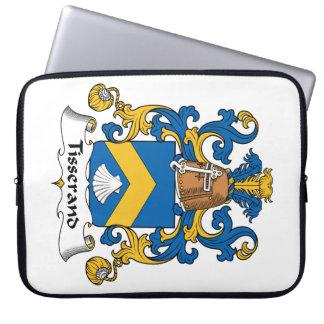 Escudo de la familia de Tisserand Fundas Ordendadores