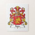Escudo de la familia de Tixier Rompecabeza Con Fotos