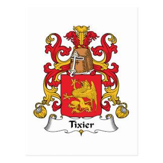 Escudo de la familia de Tixier Tarjetas Postales