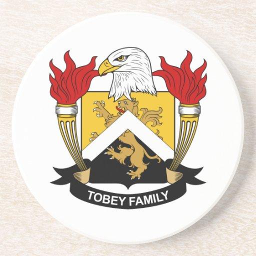 Escudo de la familia de Tobey Posavasos Personalizados