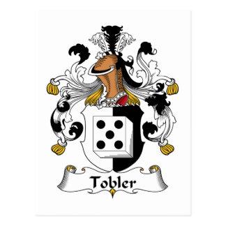 Escudo de la familia de Tobler Tarjeta Postal